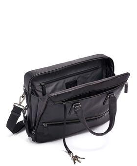 Harrow Double Zip Brief Leather Harrison