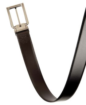 Polished Etched Buckle Reversible Belt OS Belts