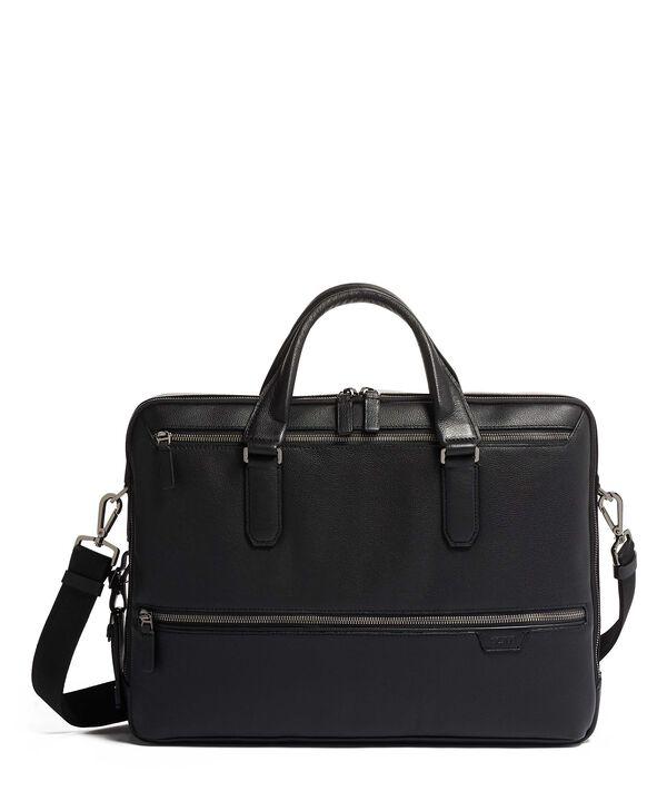 Harrison Harrow Double Zip Brief Leather
